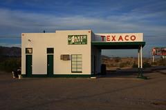 Texaco Station at Needles, CA (flyingaxel) Tags: california travel station 66 route needles texaco vision:sunset=054 vision:beach=0549 vision:outdoor=099 vision:sky=073 vision:street=0626