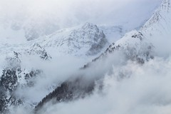 Shyness (PhotobyVro) Tags: winter cloud mountain snow france les montagne alpes landscape europe hiver neige nuage montblanc crte houches