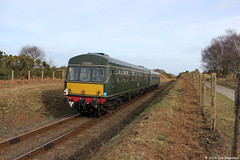 Class 101 M51192 E56062 23rd Feb 2014 NNR Kelling Heath (Ian Sharman 1963) Tags: station train diesel north norfolk railway class line 101 heath poppy multiple passenger holt feb 23rd sheringham unit 2014 dmu kelling weybourne nnr 101681 m51192 e56002