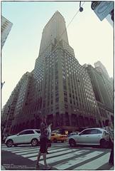 Midtown, Manhattan (Teddy Kwok) Tags: road street new york nyc man guy manhattan main streetphotography midtown highrise streetscape fisheyes skyscrapper