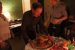 the turkey arrives