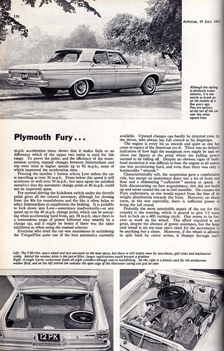 Plymouth Fury Road Test 1963 (3) - a photo on Flickriver