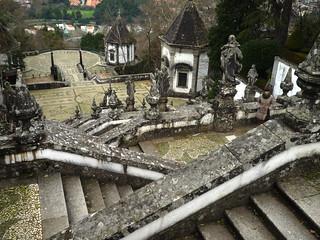 Santuario de Bom Jesus do Monte.Escalera con capillas.