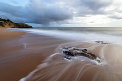 Storm on the beach (Philippe POUVREAU) Tags: ocean beach water canon sable plage saintnazaire 2014 océan slowwater océanatlantique 550d beacheslandscapes