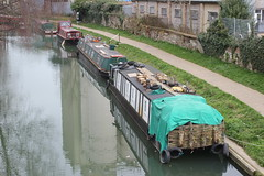 Woodburner on the Stort . (AndrewHA's) Tags: wood river boat narrow barge hertfordshire moored bishopsstortford stort