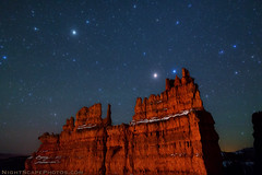 "Stars over Bryce Canyon (IronRodArt - Royce Bair (""Star Shooter"")) Tags: nightphotography night stars evening bravo nightscape brycecanyon heavens universe starrynight brycecanyonnationalpark thefortress starrynightsky"