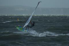 Cyclone Lusi windsurfer (Andym5855) Tags: sea newzealand sky clo