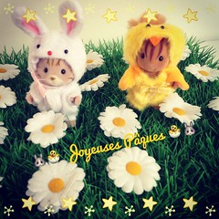 Happy Easter !! (~ Nika ~) Tags: bunny easter families chick sylvanian