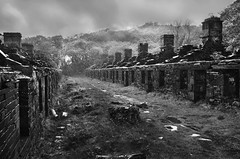 The Barracks (PentlandPirate of the North) Tags: dinorwic dinorwig slate quarry northwales gwynedd llanberis thebarracks rain anglesey snowdonia slatequarry derelict ruin industrial