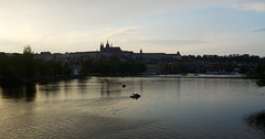 Peaceful mood at Vltava river (Gregor  Samsa) Tags: sunset river evening boat twilight czech prague peaceful prag praha czechrepublic serene bohemia vltava ceskarepublika czechia moravia moldau eskrepublika czechlands