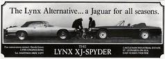 1981 LYNX XJ SPYDER ADVERT (Midlands Vehicle Photographer.) Tags: spyder advert 1981 lynx xj
