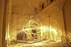 Church of Light (Cristian4132012) Tags: light canon lights flames luci luce rudere fiamme steelwool ruderi 6