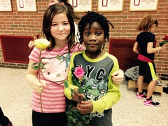 Lourdie Girls Basketball Team Valentines Day Roses (stevendepolo) Tags: girls roses game basketball youth high team day union grand rapids valentines montessori grps lourdie