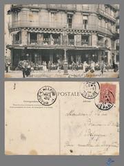 PARIS - Grande Brasserie Universelle - Restaurant Joudon (bDom) Tags: paris 1900 oldpostcard cartepostale bdom