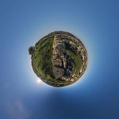Anaktoron / Necropolis of Pantalica (HamburgerJung) Tags: panorama pentax fisheye planet sicily sicilia k3 stereographic hugin sizilien nekropolis pantalica littleplanet da1017 necropolisofpantalica