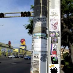 Peru (PSYCO ZRCS 10/12) Tags: street art peru sticker stickerart stickers vinyl slap tagging psyco bombing slaps oses stickerporn psycozrcs