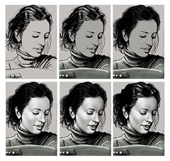 201502172250 (lindenb) Tags: portrait art face illustration sketch artwork drawing retrato femme gimp dessin fille visage onedrawingaday