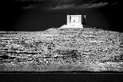 Comino Tower (albireo 2006) Tags: blackandwhite bw tower island blackwhite malta pb nb bn watchtower comino blackandwhitephotos blackwhitephotos santamarijatower