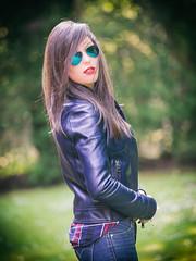 Leather Jacket portrait : Zuiko 40 150 Pro F2.8 : Olympus OMD EM1 (Benjamin Ballande) Tags: leica portrait leather olympus jacket omd f12 em1 nocticron