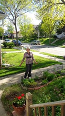 A Beautiful Day To Be A Girl (Laurette Victoria) Tags: woman pose sidewalk jeans milwaukee blonde laurette
