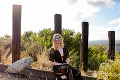 Tay chilin (Adam Levinstein) Tags: road green beach fire dress boobs babe blonde laguna bushes