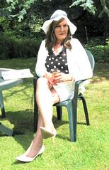 Kategmobsit-001 (fionaxxcd) Tags: crossdressing tranny transvestite mascara lipstick crossdresser stilettoes rednails trannie mtf floppyhat m2f longbrownhair seethrublouse