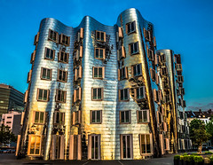 Gehry (Norbert Clausen) Tags: building skyline outdoor hell gehry architektur fernsehturm hafen dsseldorf rhine rhein gebude medienhafen architekture fotorahmen gebudestruktur