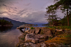Pier of the Realm (Just Call Me Dave) Tags: sunset canada tree water clouds spring britishcolumbia hardyisland efs1018f4556isstm