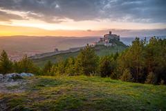 Spi castle (MIRRCOS) Tags: world blue trees light sunset sky sun tree green castle nature beauty rock forest sunrise landscape nikon europe natural unesco slovensko slovakia