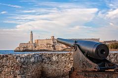 Lighthouse - Havana Cuba (danielacon15) Tags: old sea lighthouse water stone wall gun havana cuba castillos 2016