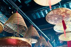 Temple Interior @ Peng Chau, Outlying Island (Pexpix) Tags: hongkong incense incensecoil interior josssticks nikkorafs2470mmf28ged nikondf placeofworship prayers smoke temple worship newterritories