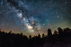 milky way and airglow (Sky Noir) Tags: sky nature night way stars wonder nikon long exposure space galaxy astrophotography astronomy milky