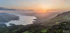 Setting Sun from Ben A'an, Trossachs National Park (Rory Marland) Tags: sunset mountain clouds canon landscape scotland nationalpark highlands outdoor highland loch trossachs katrine 6d lochkatrine 2470mm highlandregion rorymarland