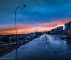 SunSet (shinnawi90) Tags: city morning light panorama black reflection art nature water night dark amazing nice nikon dubai day view angle uae wide tokina emirates national abudhabi arab land oman muscat hdr address gcc d5300