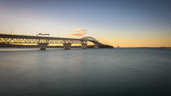 Twilight's Crossing (duncan_mclean) Tags: bridge sunset sea seascape landscape evening glow harbour auckland filter northshore lee littlestopper