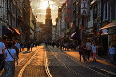 Amsterdam, The Netherlands (Neal J.Wilson) Tags: travel sunset holland netherlands amsterdam silhouette europe dusk cities tram tramlines the centers