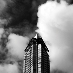 Sky tower (thornebe23) Tags: ocean sky canada architecture vancouver clouds apartments condos iphone