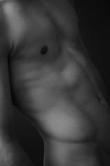 Marble (patrycjamarciniak) Tags: closeup body blackandwhite detail man male muscles muscle grayscale nude artistic