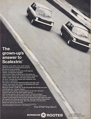 Sunbeam Imp 1968 (Runabout63) Tags: advert imp sunbeam scalextric rootes