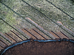 2528052016 (2c..) Tags: ireland  3 abstract texture landscape europe aerial peat land overhead 2c kildare drone dji