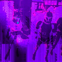 """The Lavender Troopers (""""Cisco Kid"""") Tags: storm art photoshop costume purple troopers"""
