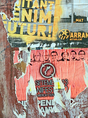 Instant Art (Antropoturista) Tags: red poster spain torn catalunya tarragona