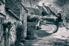 Tristan's Row (dolbinator1000) Tags: trees houses bw white house black tree history blackwhite noir cotswolds row gloucestershire bn historical blanc bribery cotswold blancetnoir