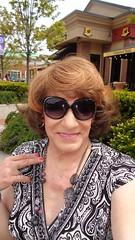Selfie Addict (Laurette Victoria) Tags: woman sunglasses mall shopping necklace dress auburn milwaukee laurette bayshoremall