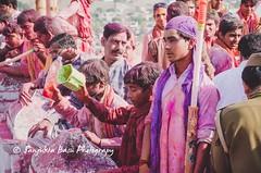 Barsana Nandgaon Lathmar Holi Low res (28 of 136) (Sanjukta Basu) Tags: holi festivalofcolour india lathmarholi barsana nandgaon radhakrishna colours
