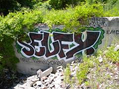 Selfy (Randall 667) Tags: street urban house building art abandoned island graffiti artwork artist massachusetts exploring writer split rhode selfy tagger yoke krome