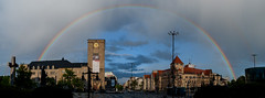 After the rain (Giannis Samartzis) Tags: city panorama rain clouds rainbow nikon cityscape 1855 poznan d60 tcza