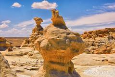 Daffy and the Eagle (Jim Johnston (OKC)) Tags: newmexico desert hike daffyduck rockformations eaglerock bistibadlands alienworld ahshislepah