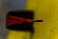 149/365 (goran1101) Tags: red abstract color colors yellow 35mm nikon bokeh shapes minimal spike minimalism nikkor minimalistic d5100