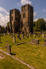 Dull Shot (steelegbr) Tags: uk blue sky building green history grass stone clouds religious scotland cathedral ruin historic elgin highands elgincathedral